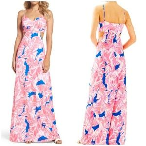 ISO Lilly Pulitzer LINLEY cut-out maxi dress - XS